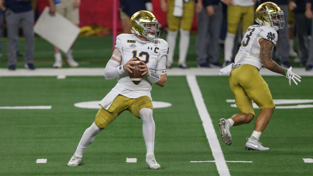 New Orleans Saints take Notre Dame QB Ian Book in 4th round of NFL draft