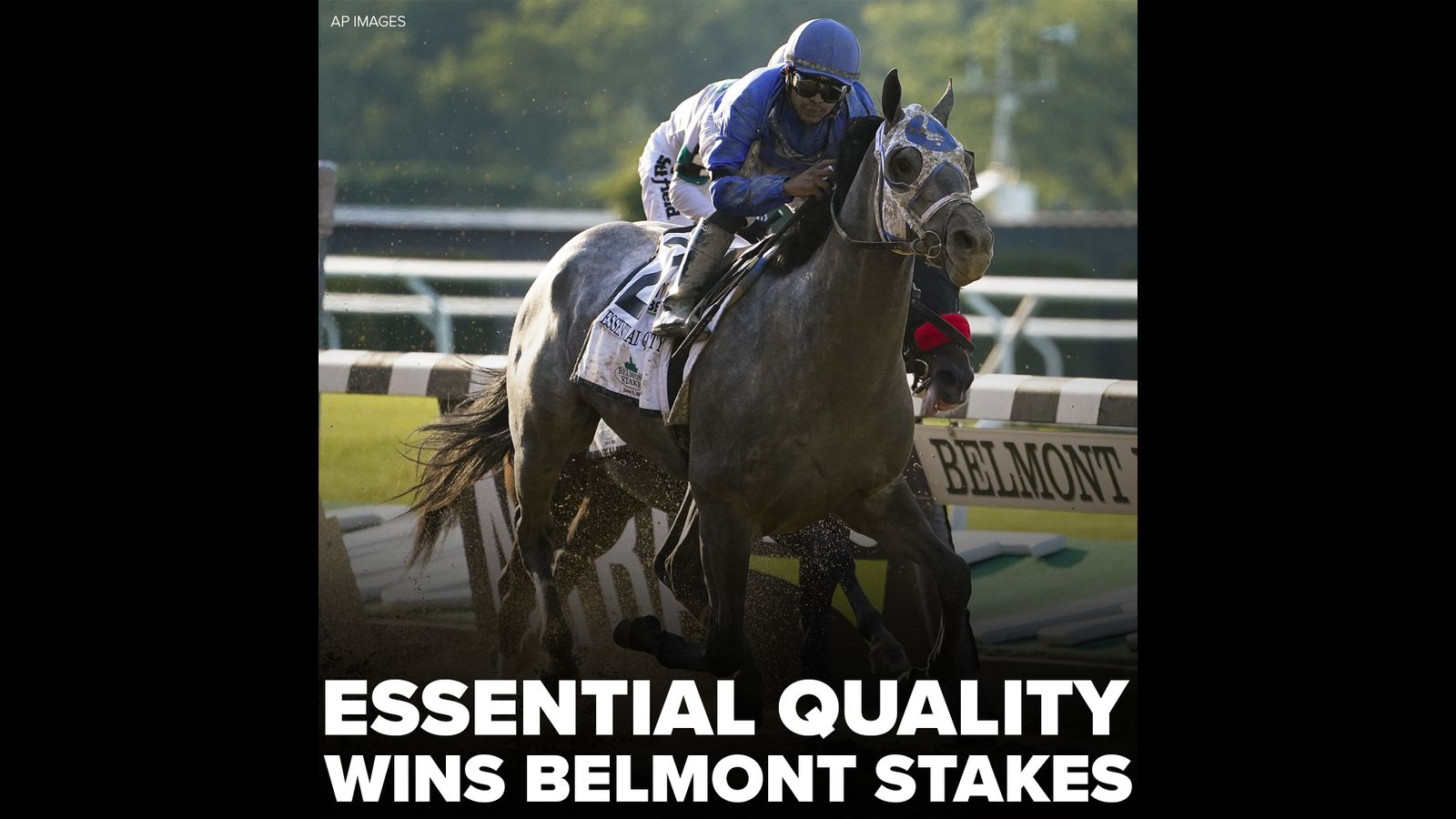Belmont Stakes 2021: Favorite Essential Quality crosses finish line first at 153rd Belmont Stakes