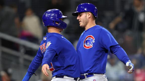 Davies strong, Rizzo, Wisdom homer in Cubs' 7-1 win vs Pads