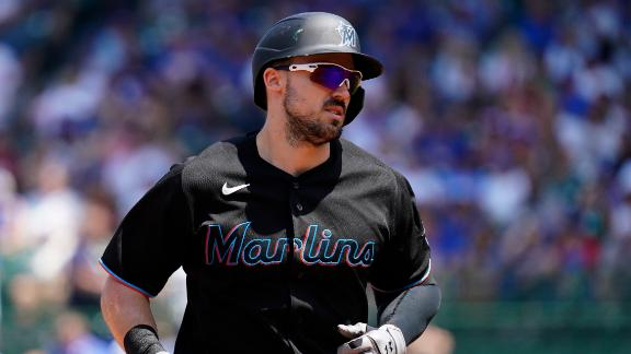 Duvall smacks 2 HRs again as Marlins pound Cubs 11-1