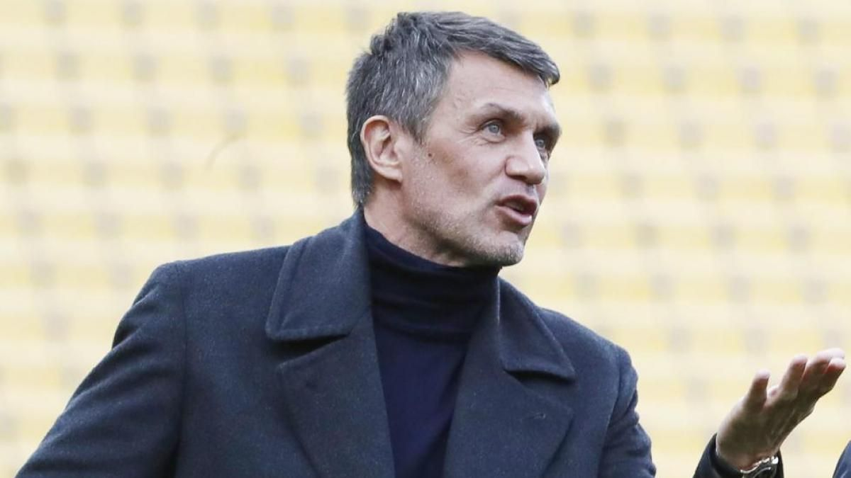 Maldini shows his rejection of a biennial World Cup